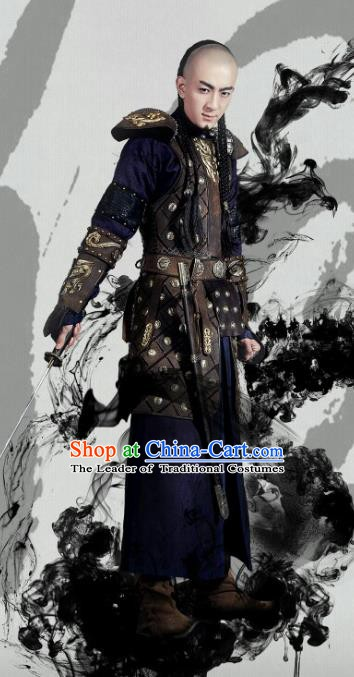 Chinese Qing Dynasty Mongolian Prince Historical Costume China Ancient Prince Clothing