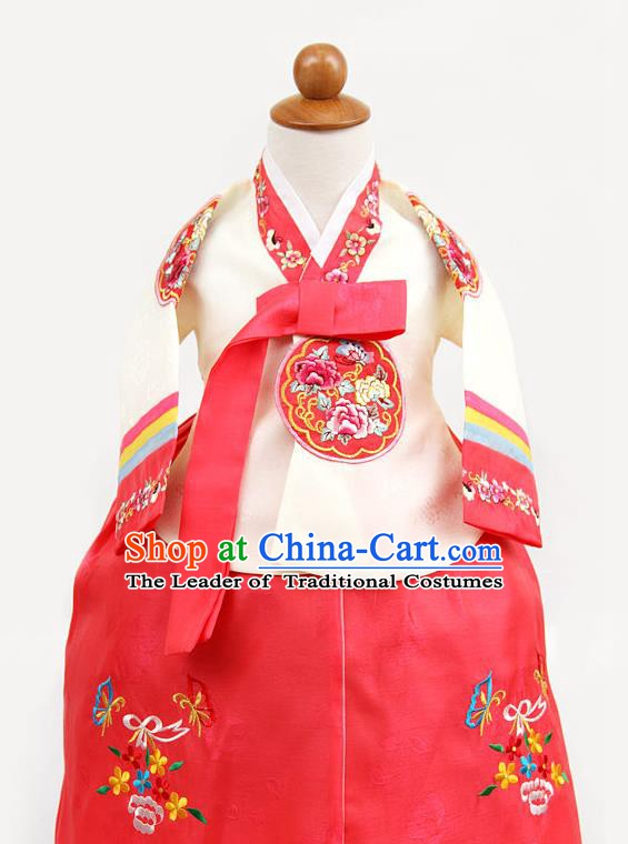 Korean Traditional Yellow Hanbok Clothing Korean Children Fashion Apparel Hanbok Costumes for Kids