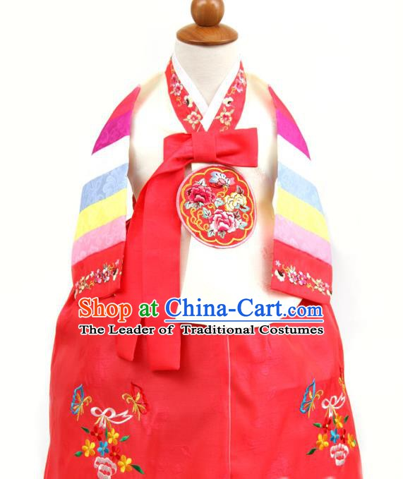 Korean Traditional White Hanbok Clothing Korean Children Fashion Apparel Hanbok Costumes for Kids
