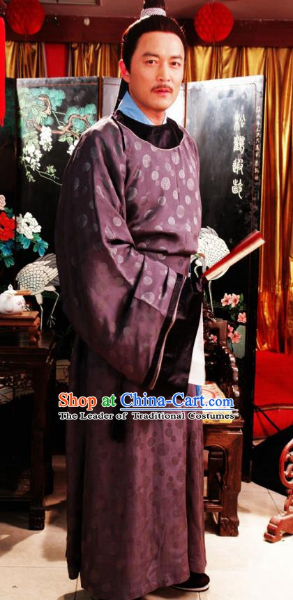 Chinese Ancient Novel Dream of the Red Chamber Aristocratic Milord Jia Zhen Costume for Men