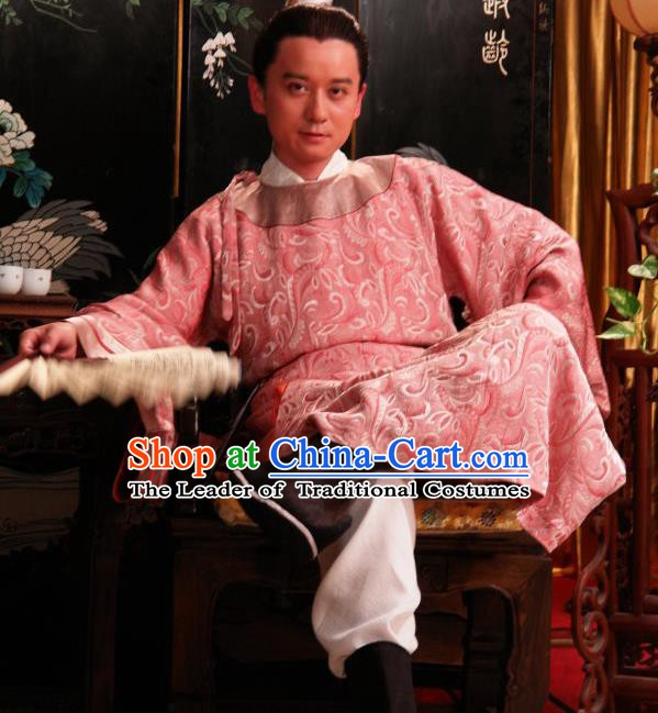 Chinese Ancient Novel Dream of the Red Chamber Rich Childe Jia Lian Costume for Men