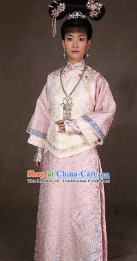 Chinese Ancient Qing Dynasty Manchu Princess Costume for Women