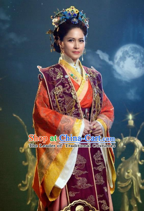 Chinese Ancient Empress Costume Ming Dynasty Queen of Zhu Di Embroidered Dress for Women