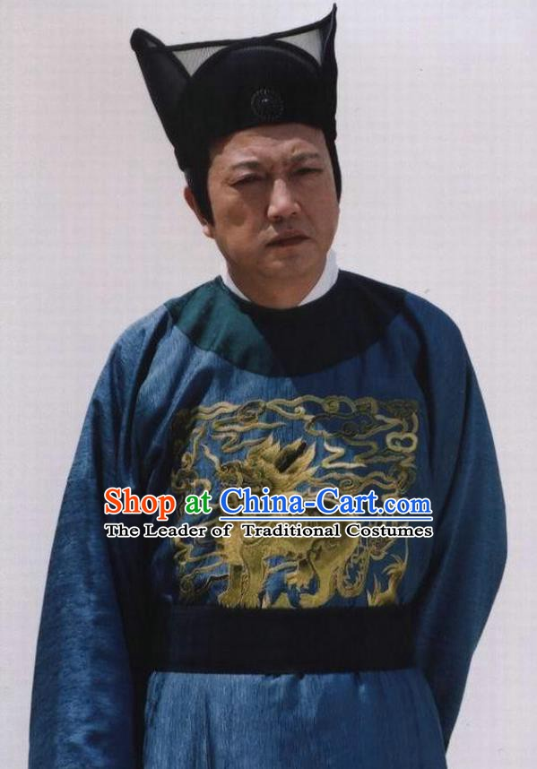 Chinese Ancient Minister Costume Ming Dynasty Eunuch Liu Jin Chenhao Clothing for Men