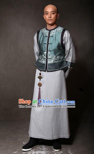 Chinese Ancient Qing Dynasty Manchu Prince of Qianlong Embroidered Costume for Men