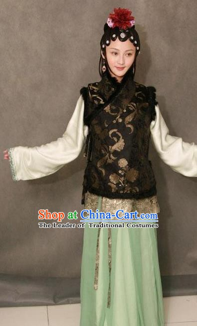 Chinese Ancient Novel Character A Dream in Red Mansions Young Mistress Wang Xifeng Costume for Women