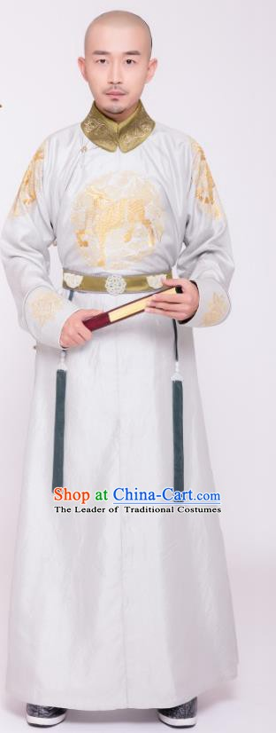 Chinese Ancient Qing Dynasty Major General Nian Gengyao Costume for Men