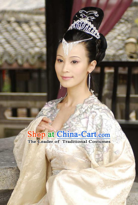 Chinese Ancient Novel Journey to the West Girl Country Queen Embroidered Costume for Women