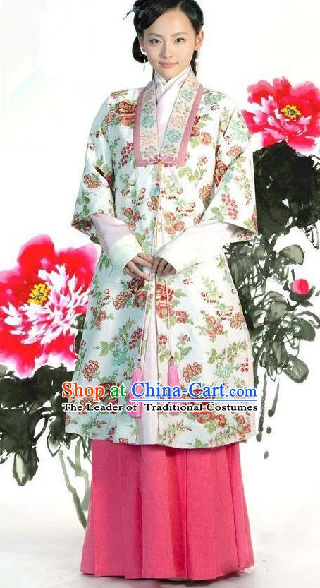 Ancient Chinese Ming Dynasty Nobility Replica Costume Aristocrat Lady Clothing for Women