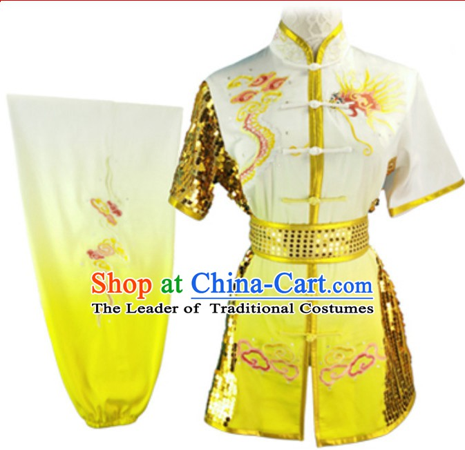 Top Dragon Embroidery Long Fist Southern Fist Best and the Most Professional Kung Fu Clothing Suit