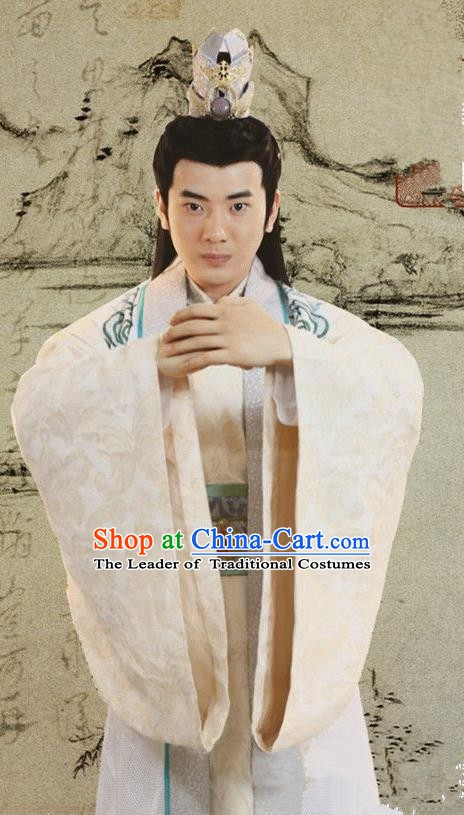Chinese Ancient Ming Dynasty Prince Zhu Gaosui of Yongle Emperor Replica Costume for Men