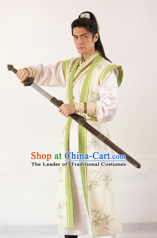 Chinese Ancient Chen Han Regime Marshal Generalissimo Chen Youliang Replica Costume for Men