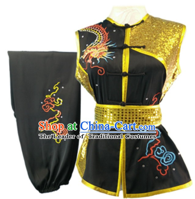 Made to Order Top Nanquan Southern Fist Sleeveless Best and the Most Professional Kung Fu Competition Clothes Contest Suits for Adults Kids