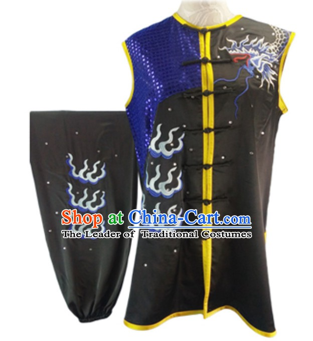 Custom Made Top Nanquan Southern Fist Sleeveless Best and the Most Professional Kung Fu Competition Clothes Contest Suits for Adults Kids Men Women Children