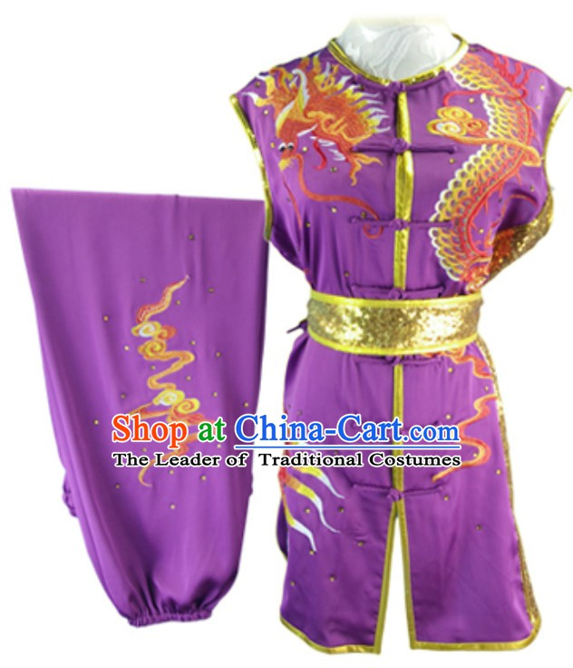 Custom Made Top Nanquan Southern Fist Sleeveless Best and the Most Professional Kung Fu Competition Clothes Contest Suits for Adults Children