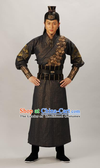Traditional Chinese Ming Dynasty Ancient Imperial Bodyguard Costume for Men