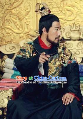 Traditional Chinese Ming Dynasty Ancient Emperor Tianqi Zhu Youxiao Costume for Men