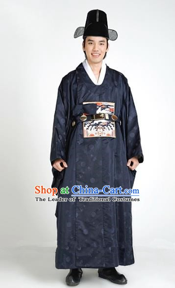 Asian Korean Hanbok Ancient Palace King Traditional Costume for Men