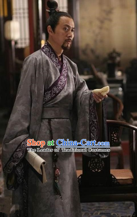Traditional Chinese Ancient Ming Dynasty Prince Yu Zhu Zaihou Costume for Men