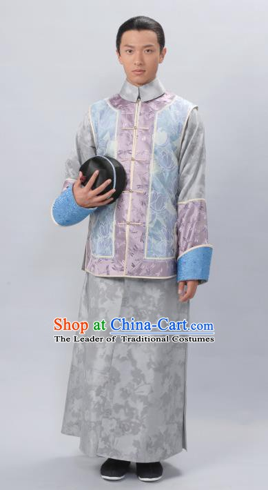Traditional Chinese Ancient Qing Dynasty Manchu Prince Costume for Men