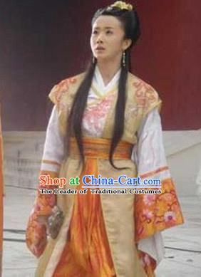 Chinese Ancient Ming Dynasty Palace Princess Changping Embroidered Dress Costume for Women