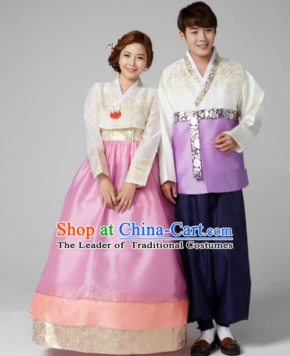 Traditional Korean Costumes Ancient Korean Wedding Hanbok Bride and Bridegroom Costumes Complete Set