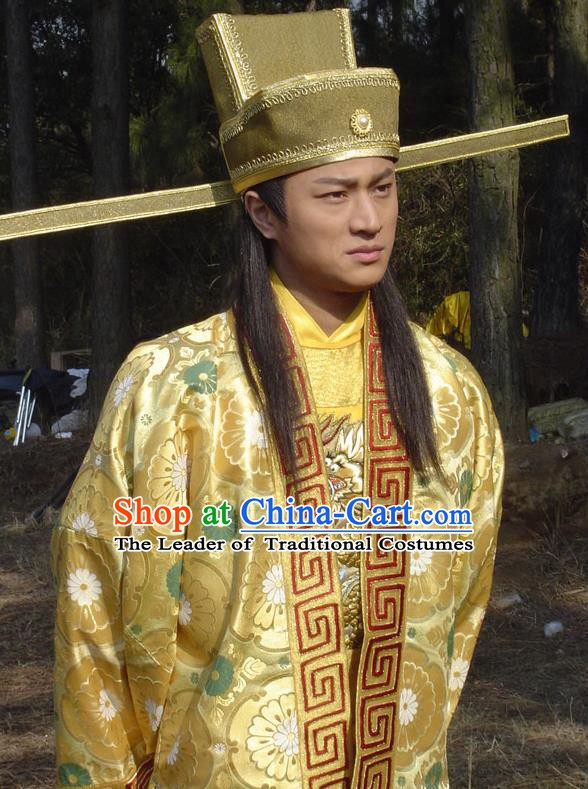 Chinese Ancient Song Dynasty Emperor Taizong Zhao Guangyi Replica Costume for Men