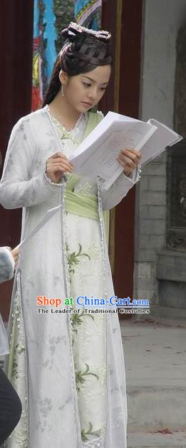 Chinese Ancient Song Dynasty Nobility Lady Replica Costume for Women