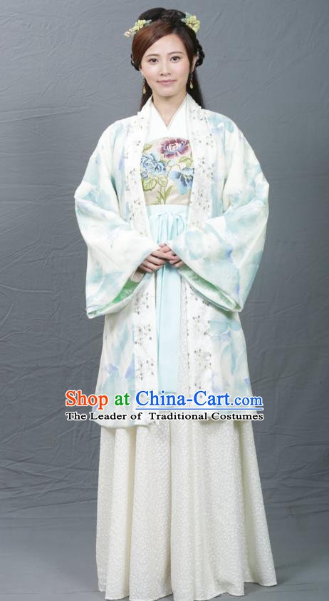 Chinese Ancient Song Dynasty Palace Princess Replica Costume for Women