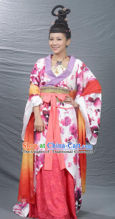 Chinese Ancient Song Dynasty Palace Lady Princess Dance Replica Costume for Women