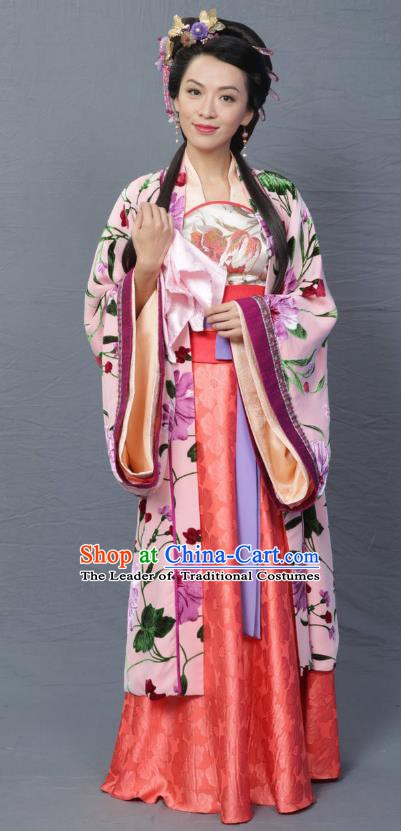 Ancient Chinese Song Dynasty Noblewoman Hanfu Dress Replica Costume for Women