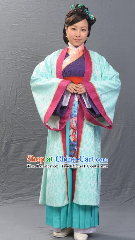 Ancient Chinese Song Dynasty Noblewoman Hostess Hanfu Dress Replica Costume for Women