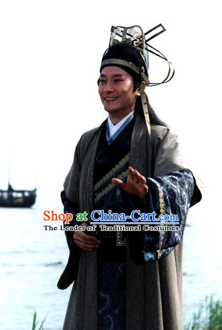 Chinese Song Dynasty Swordsman Clothing Ancient Kawaler Replica Costume for Men