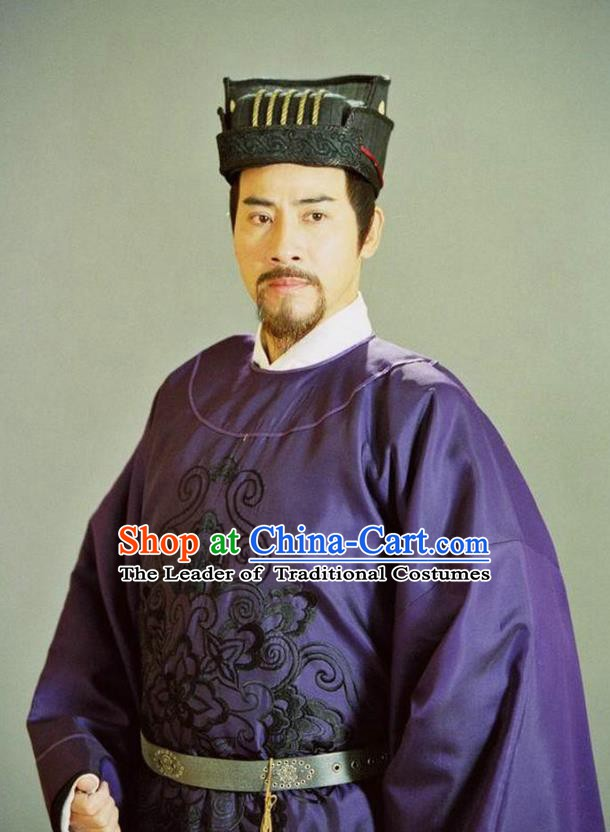Ancient Chinese Song Dynasty Patriotic General Yang Ye Replica Costume for Men