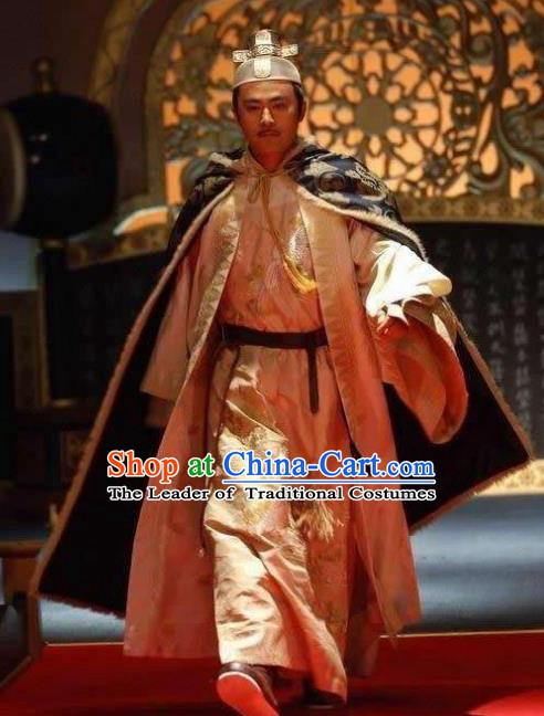 Ancient Chinese Song Dynasty Taizong Emperor Zhao Guangyi Replica Costume for Men