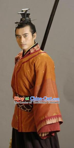 Ancient Chinese Song Dynasty Young General Yang Yande Replica Costume for Men