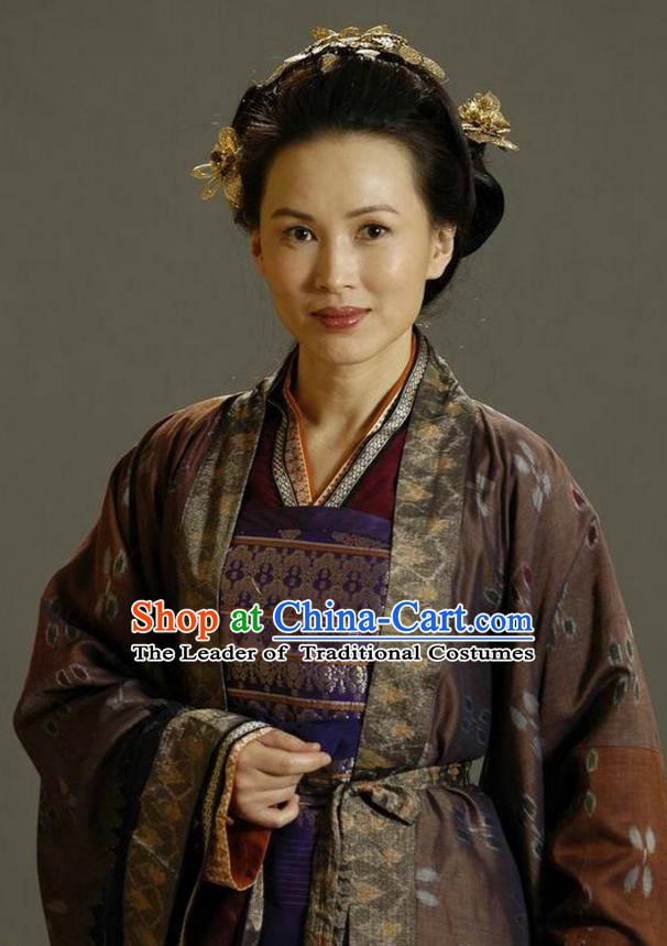 Ancient Chinese Song Dynasty General She Saihua Dowager Countess Replica Costume for Women