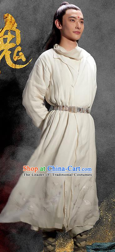 Chinese Ancient Ming Dynasty Swordsman Replica Costume Knight Robe for Men