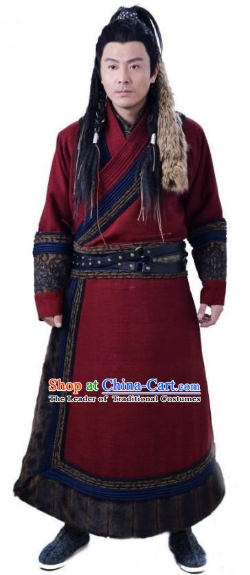 Ancient Chinese Song Dynasty Jin Minority Prince Swordsman Wanyan Zeli Replica Costume for Men