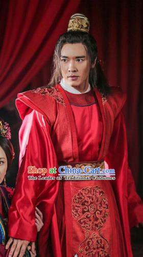 Ancient Chinese Song Dynasty General Swordsman Son of Yueh Fei Wedding Replica Costume for Men