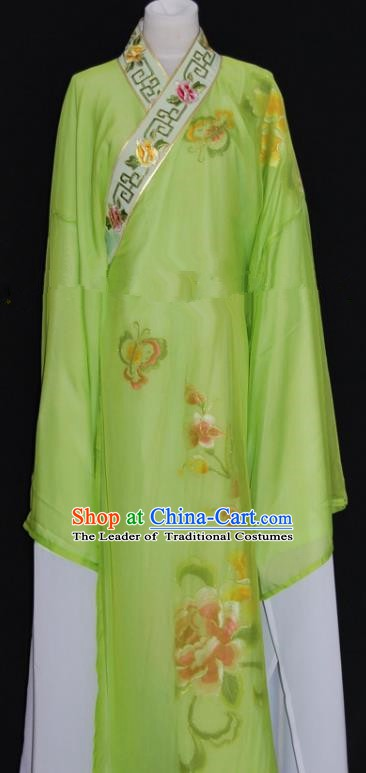 China Traditional Beijing Opera Niche Costume Gifted Scholar Green Robe Chinese Peking Opera Clothing
