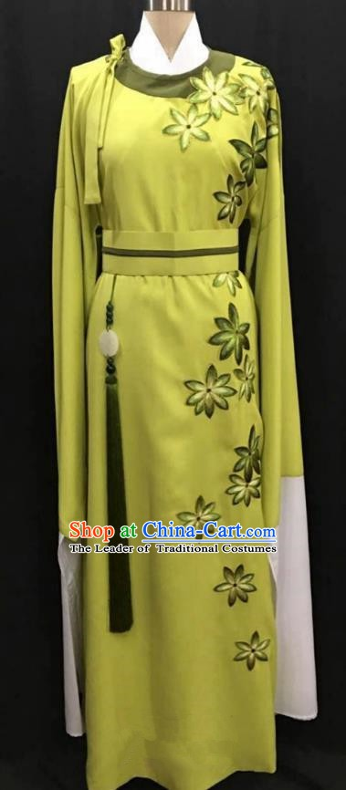 China Traditional Beijing Opera Niche Yellow Robe Chinese Peking Opera Gifted Scholar Costume