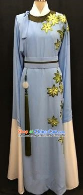 China Traditional Beijing Opera Niche Blue Robe Chinese Peking Opera Gifted Scholar Costume