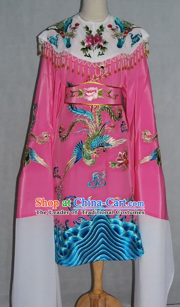 China Traditional Beijing Opera Actress Pink Costume Chinese Peking Opera Embroidered Dress