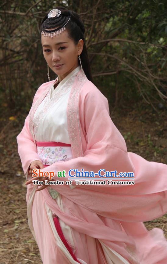 Chinese Song Dynasty Palace Princess Embroidered Dress Ancient Hanfu Replica Costume for Women