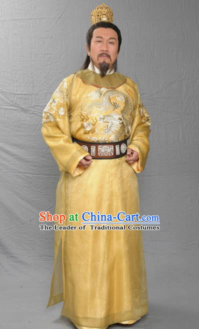 Chinese Song Dynasty Emperor Zhao Kuo Clothing Ancient Majesty Replica Costume for Men