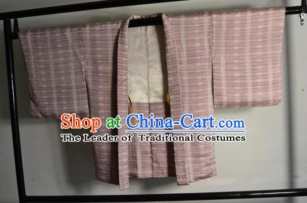 Japanese Ancient Male Kimono Costume Pink Haori Shirts Traditional Wafuku Hakama Yukata for Men