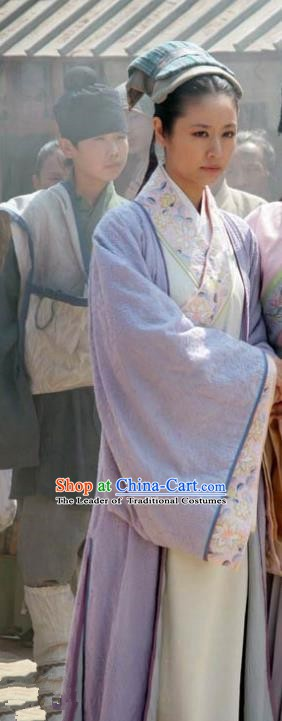 Chinese Ancient Song Dynasty Wife of Su Shi Wang Fu Replica Costume for Women