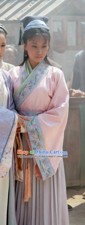 Chinese Ancient Song Dynasty Wife of Su Shi Wang Runzhi Replica Costume for Women