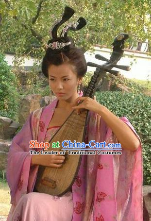 Chinese Ancient Imperial Consort Lady Huarui Embroidered Replica Costume for Women